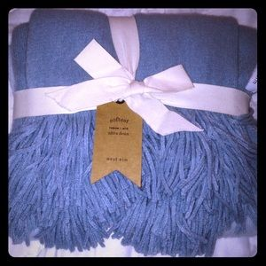 West Elm Softest Throw- blue ombre